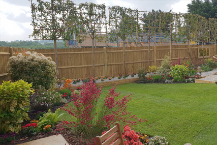 Bellway Homes, Little Acres development rear garden